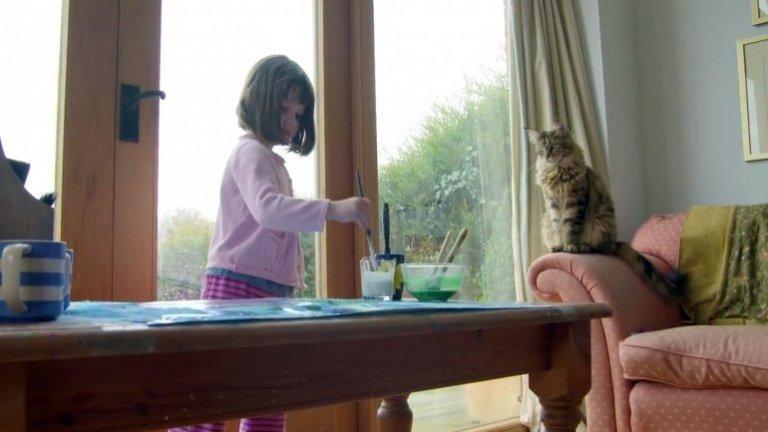otistik kız ve kedisi