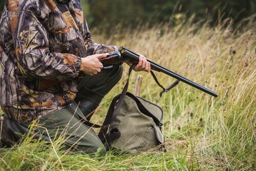 avcı ve tüfeği