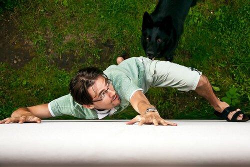 köpekten korkan adam