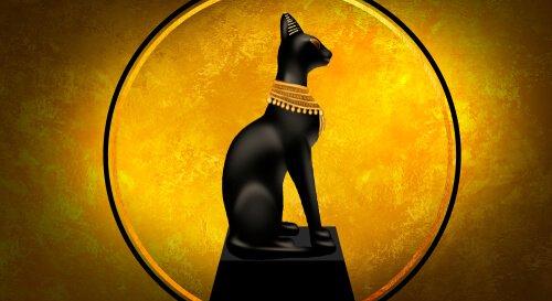 antik mısır kedi tasviri