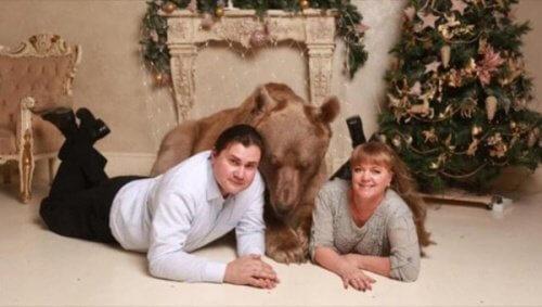 Stepan, Rus Bir Çiftin Evcil Ayısı