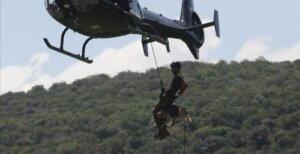 Yasa dışı avcılık ve helikopterden inen köpek