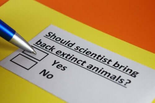 nesli tükenen türleri geri getirmek için anket
