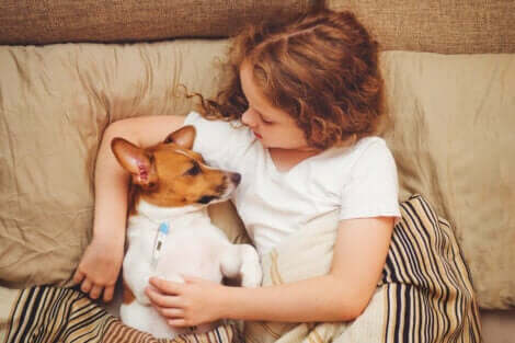 hasta köpek ile yatan kız