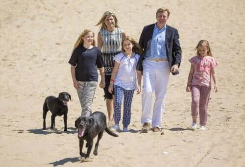 Bir aile ve köpekleri.